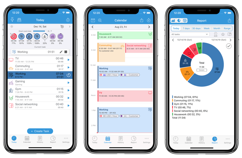ATracker tracking project and billable hours