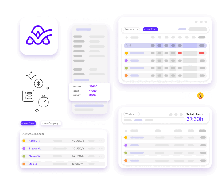 ActiveCollab time tracking solution for achitects