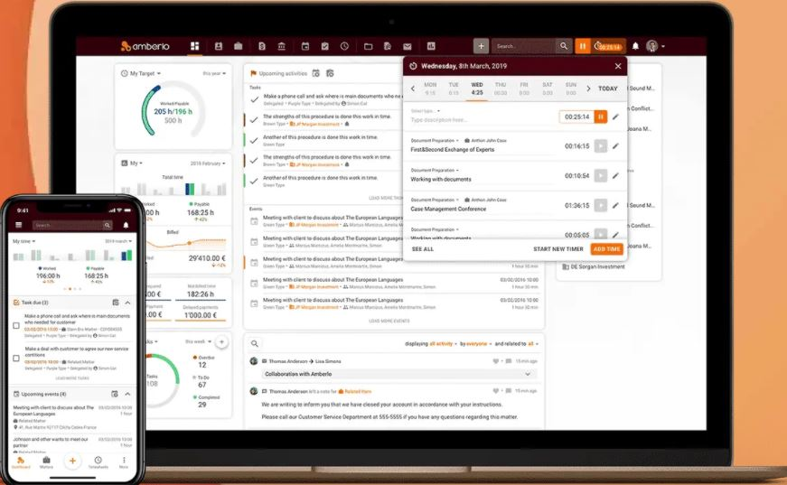 Amberlo time tracking for billable hours