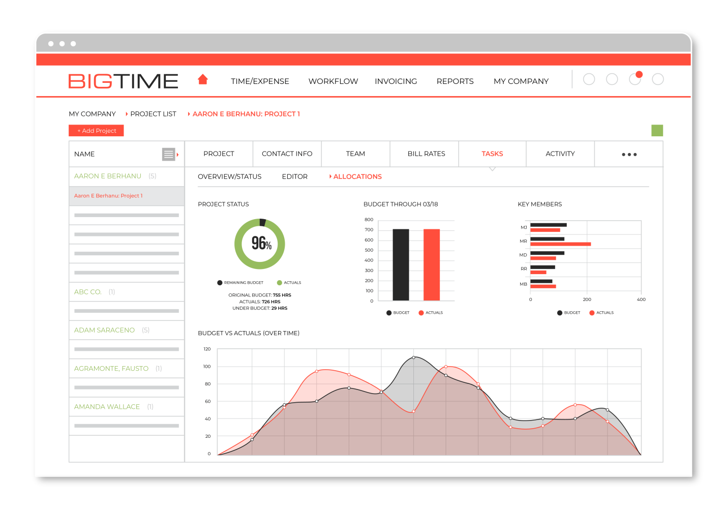 BigTime time billing software for for engineers