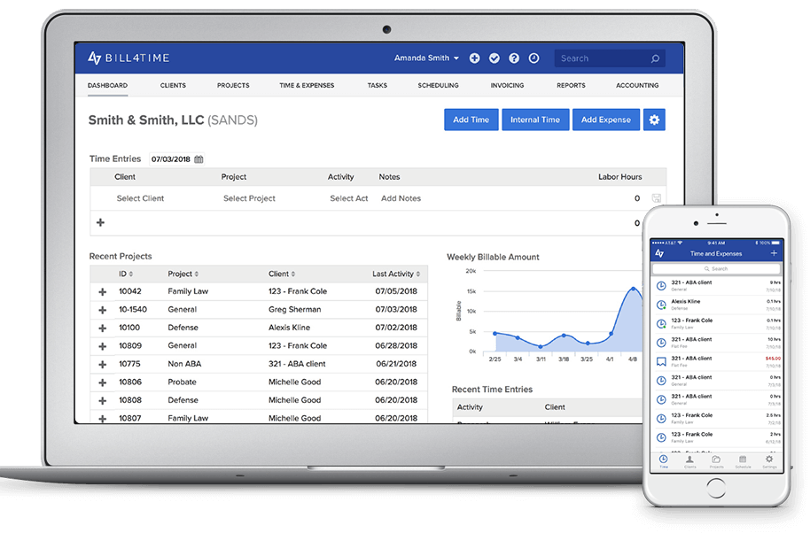 Bill4Time time tracking solution for achitects
