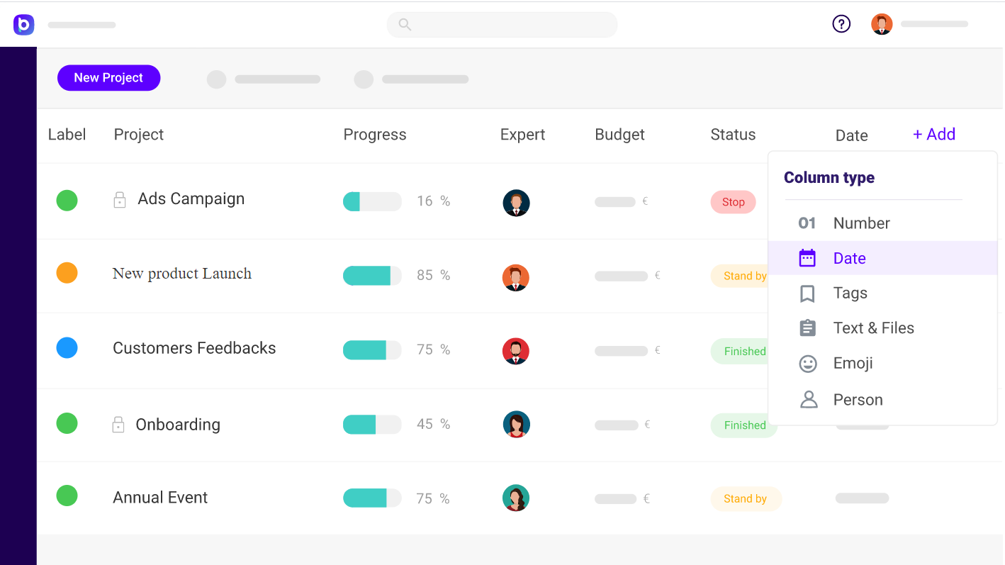 Bloomup tracking project and billable hours