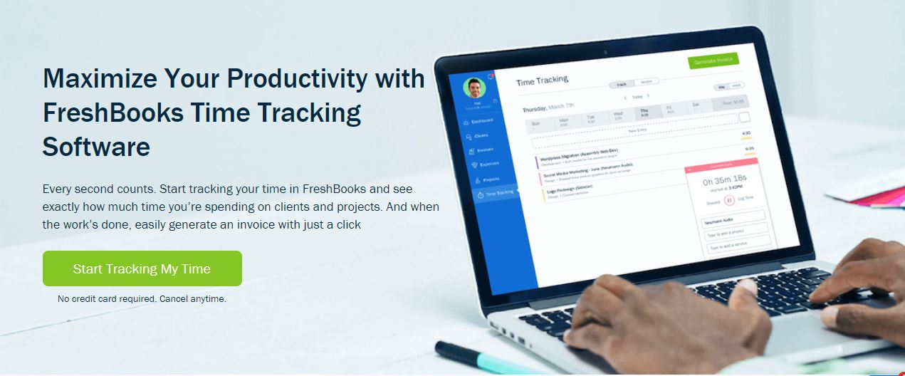 FreshBooks time and cost tracking