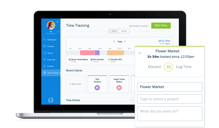 business management software with time tracking
