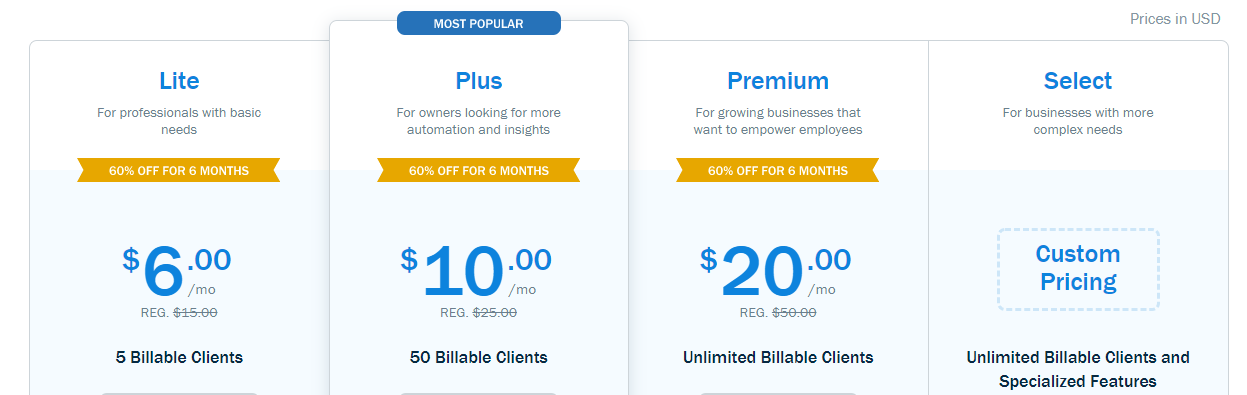 Freshbook pricing