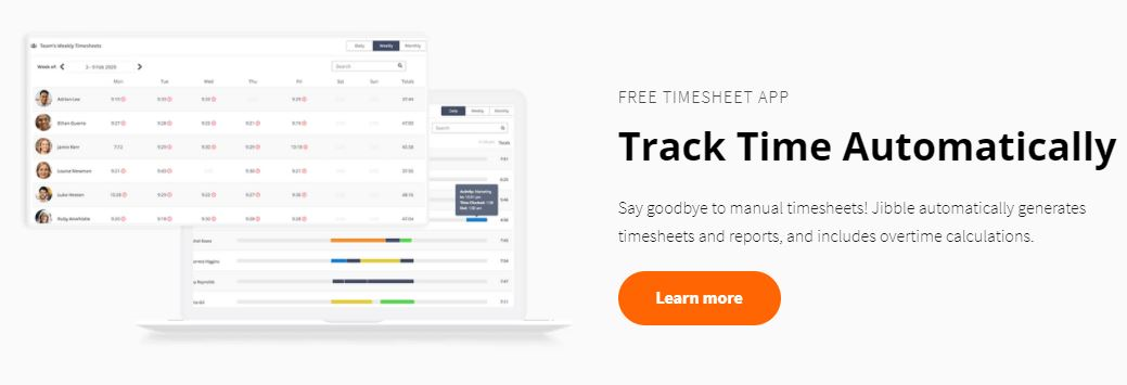 Jibble time and cost tracking