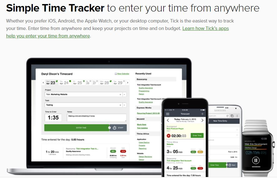 Tick time and cost tracking