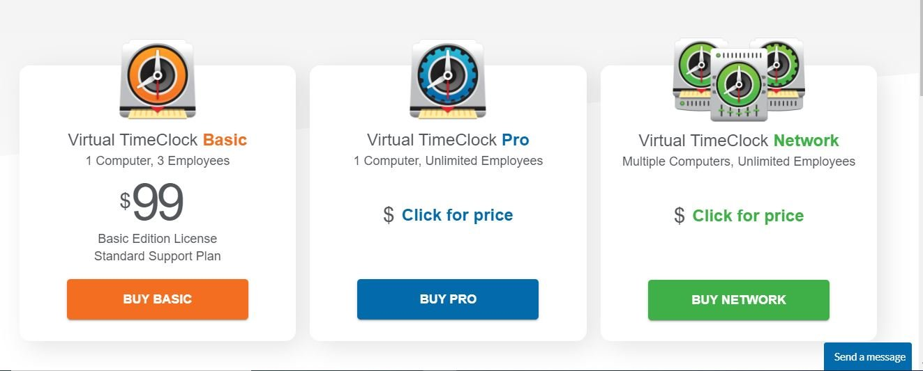 Redcort TimeClock pricing