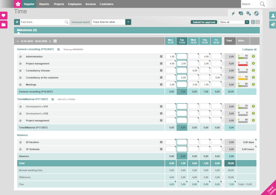 TimeLog software to track billable hours