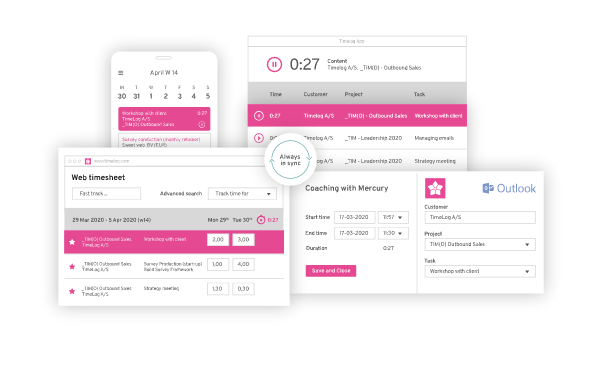 TimeLog time billing software for for engineers