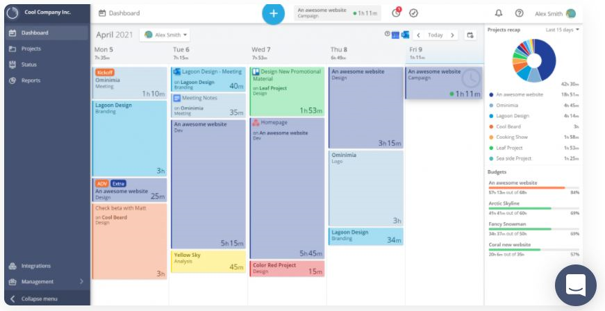 Timeneye time and cost tracking