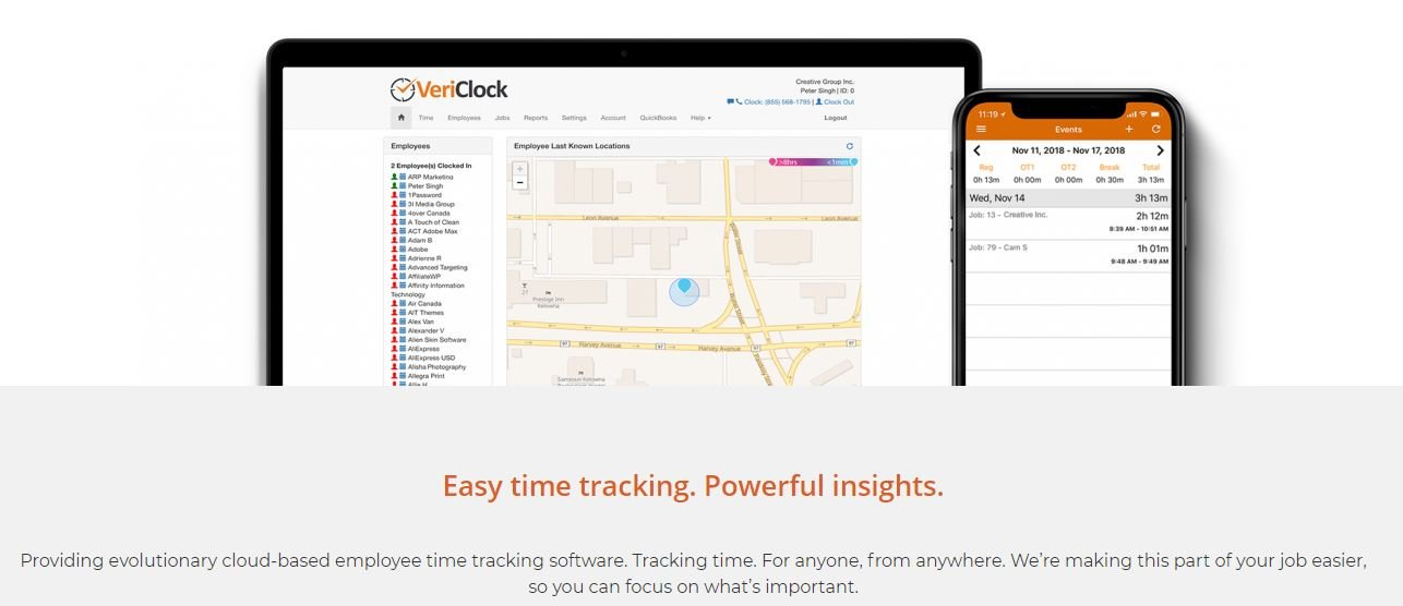 VeriClock track time from anywhere