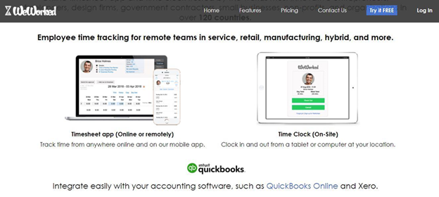 WeWorked remote employee time tracker