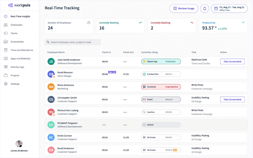 Workpuls best app for tracking work hours