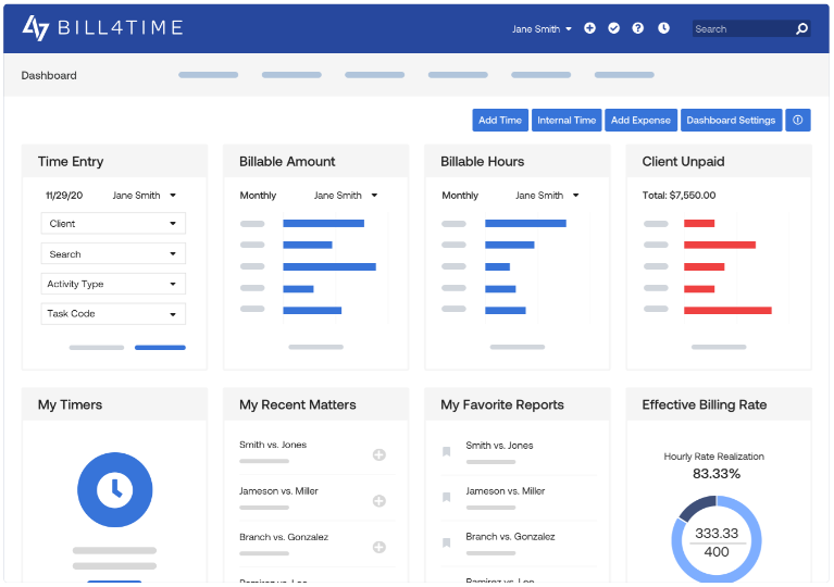 Bill4Time billable time software