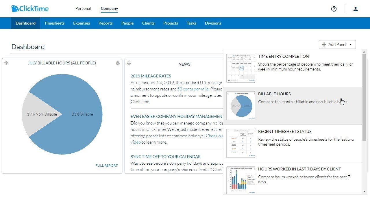 click time time tracking for professional services