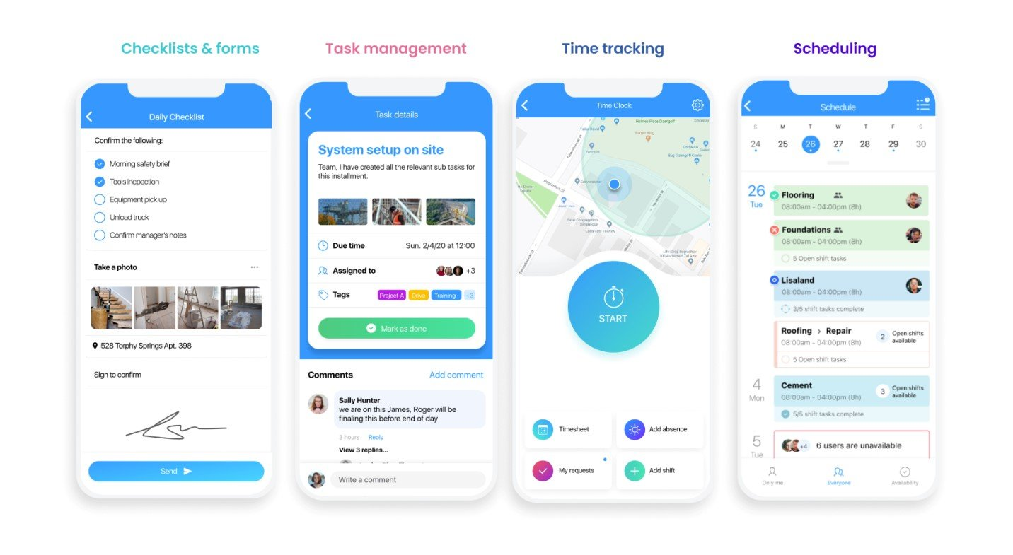 connecteam Team time tracking