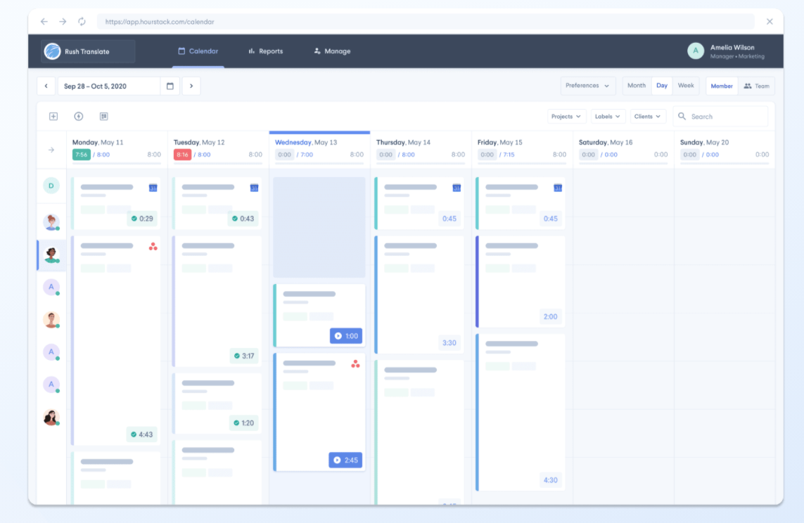 hours stack work hour tracker