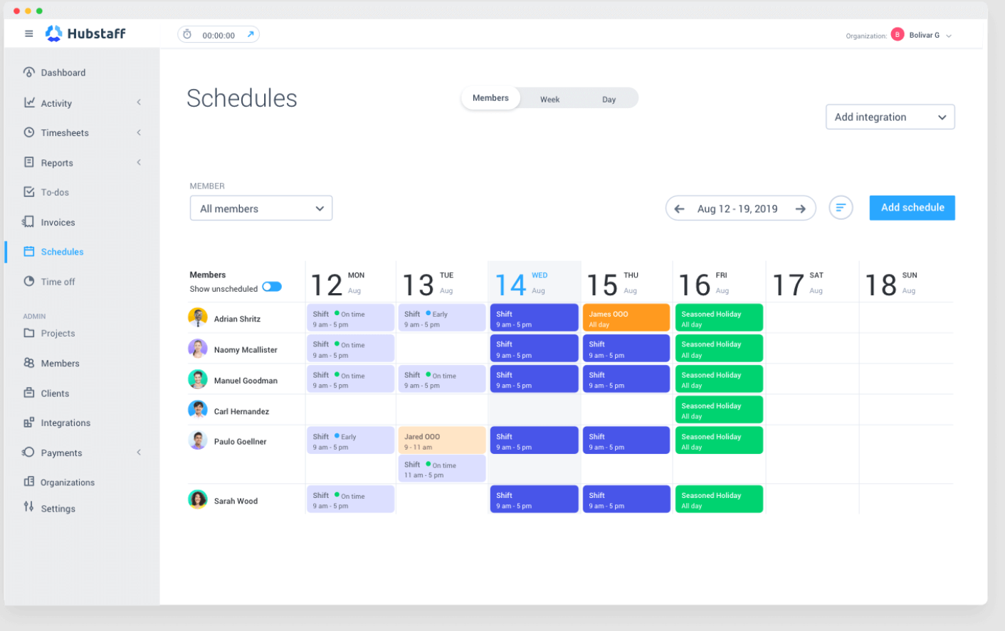 hubstaff time reporting software