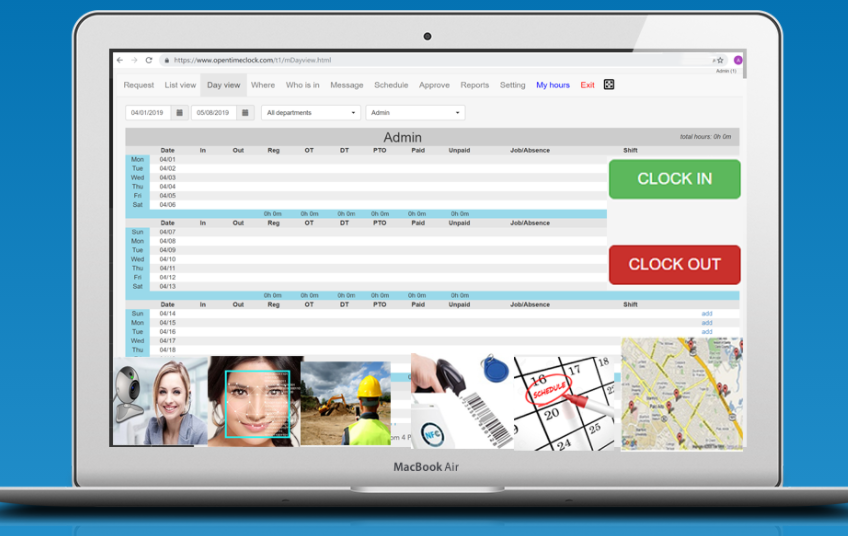 opentimeclock time keeping software