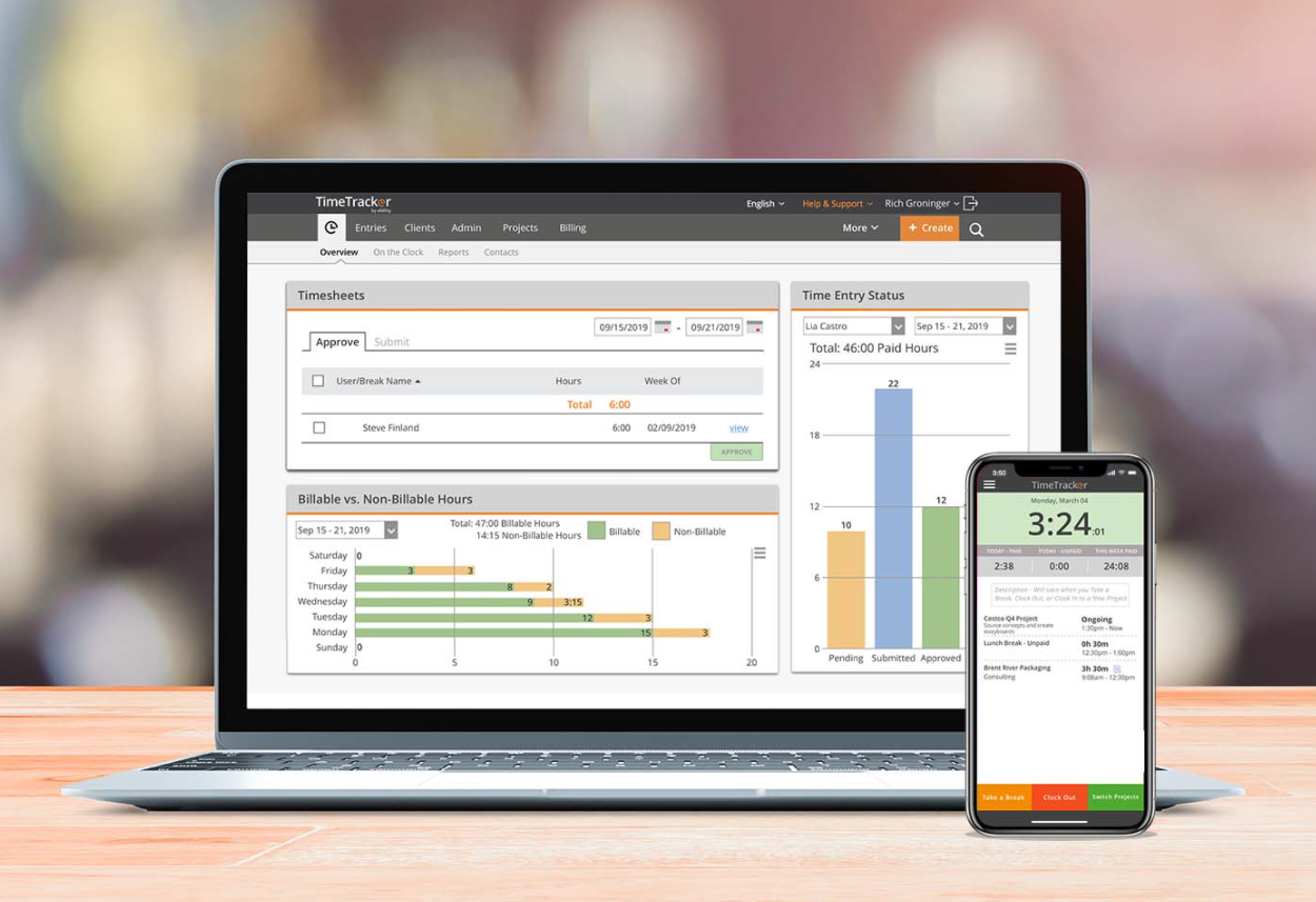 Time Tracker time tracking for professional services